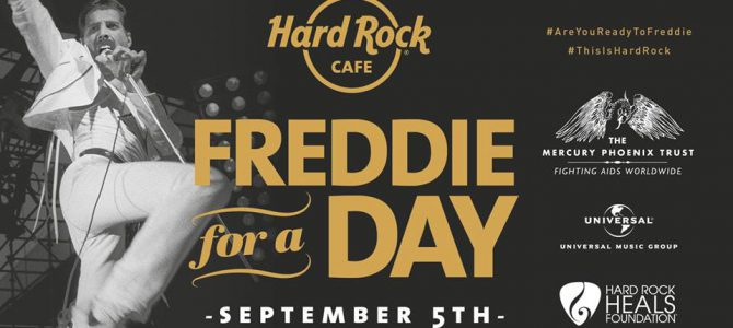 Hard Rock CAFE  9月5日 Freddie For A Dayに参加します。